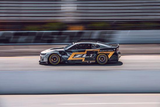 The Next Gen Camaro ZL1 race car's new lower greenhouse, short