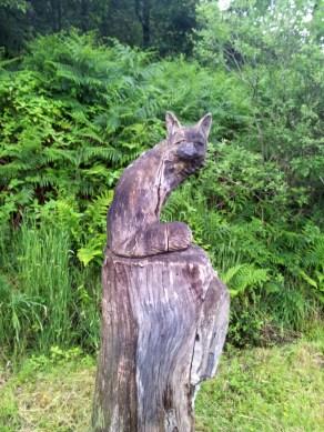 Fox wooden sculpture