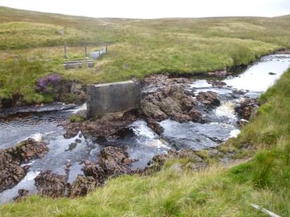 Dismantled bridge on Calder Water