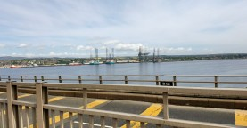 Looking to Dundee Docks
