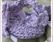 Pretty Crochet Lavender Clutch