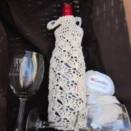 crochet, wine tote, etsy, blog, cotton yarn 002