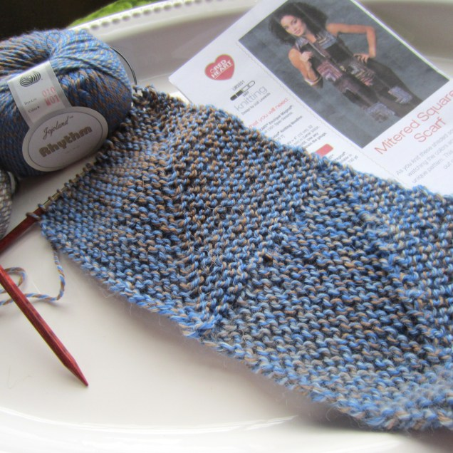 knit, mitered square 002