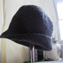 knit, mitered square, crochet, slouchy beanie, wine totes 005