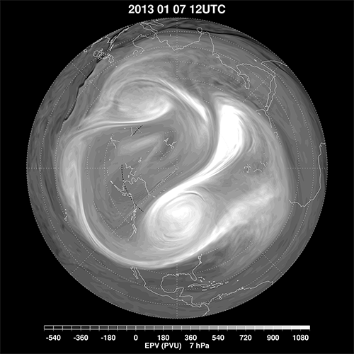 polar vortex split jan 2013