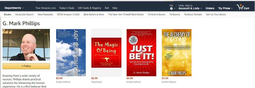 G. Mark Phillips Amazon Authors Page