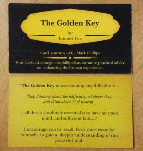 Emmet Fox golden key cards