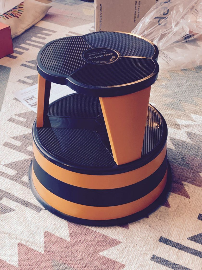 orange step stool