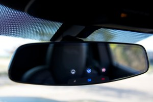 New Chevy frameless rearview mirror w touch sensors