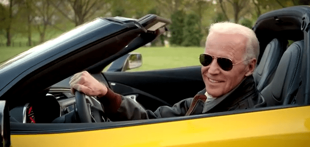 Image result for joe biden yellow corvette