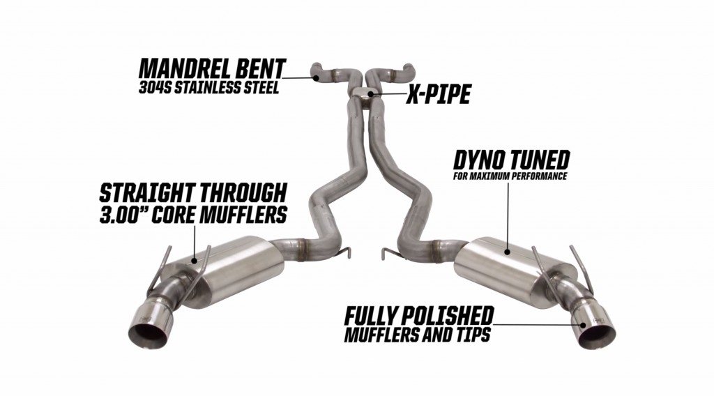 camaro exhaust system by hurst sounds