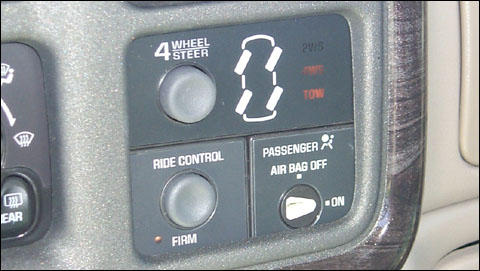 Quadrasteer Dashboard Controls