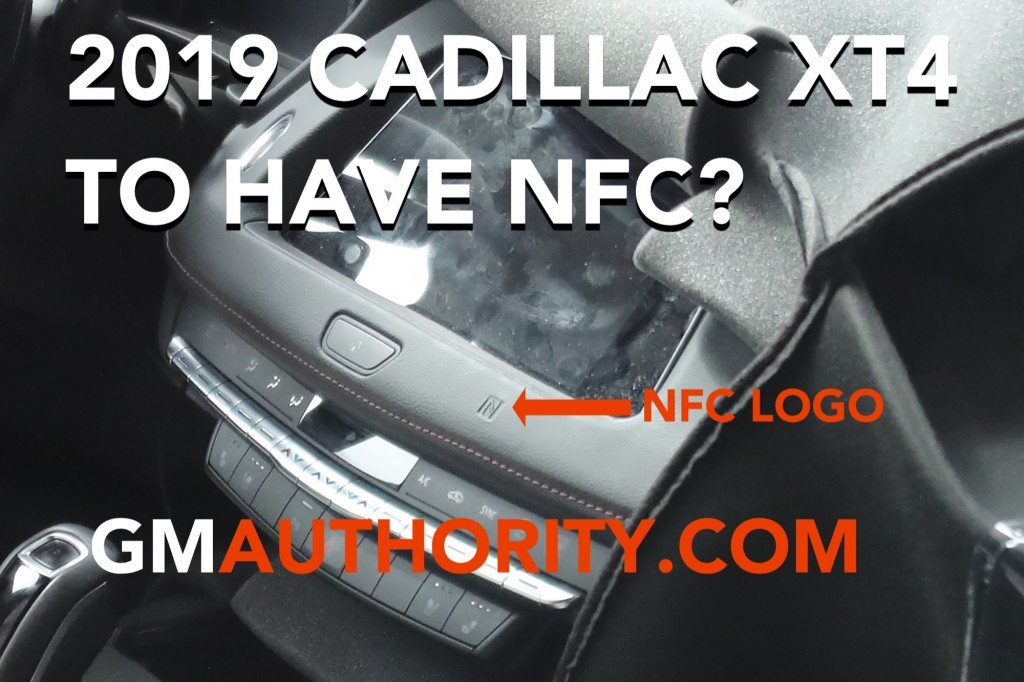 2019 Cadillac XT4 interior spy shot with NFC - GM Authority