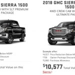 Gmc Discount Cuts 2018 Sierra Price Over 000 June 2019 Gm Authority