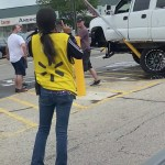 Lifted Chevrolet Silverado Taken Out By Stop Sign Video Gm Authority