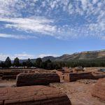 Pecos Historic Site showing surrounding higher hills