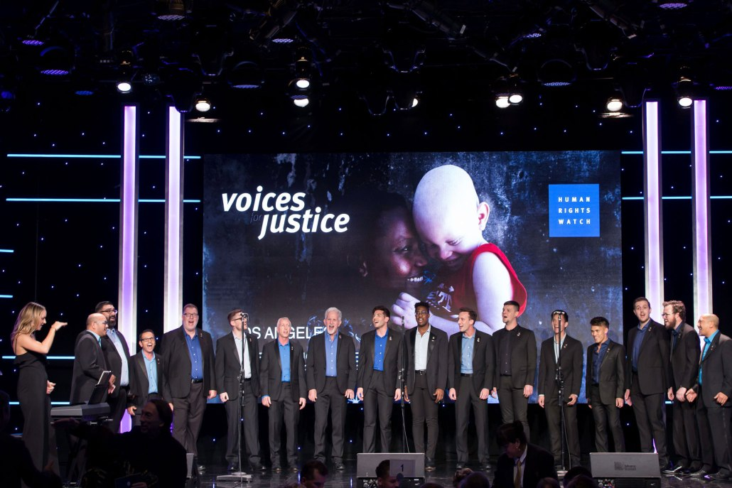 Aftershock performing at HRW Voices