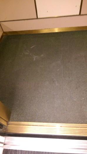 111 Maiden Ln Elevator Carpet Before