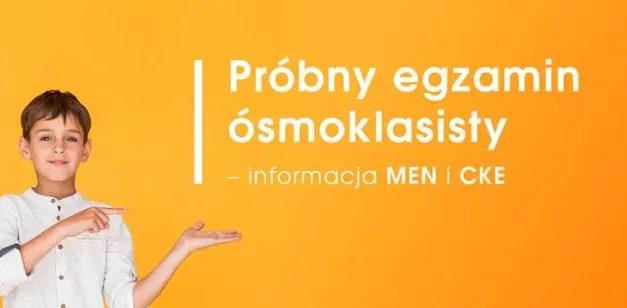 Arkusze do egzaminu próbnego dla ósmoklasisty – J. Polski, Matematyka, Angielski.