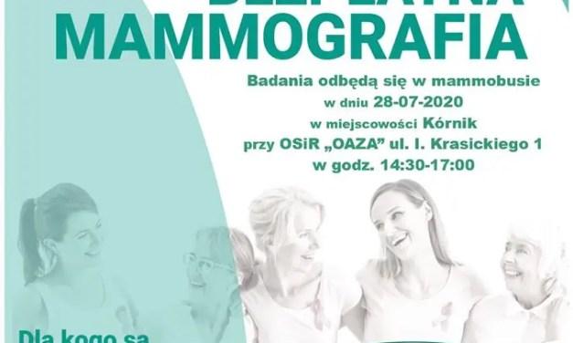 Bezpłatna MAMMOGRAFIA dla Pań w wieku 50-69 lat