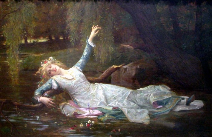 Ophelia, painting by Alexandre Cabanel [Public domain], via Wikimedia Commons.