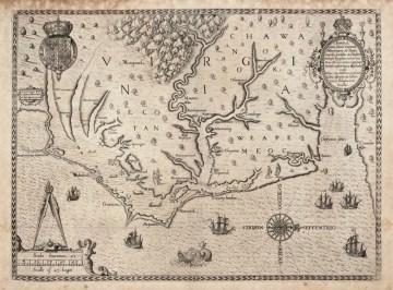 Historic map of North Carolina
