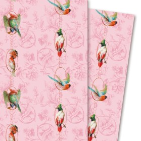 Geschenkpapier: Birds on a string