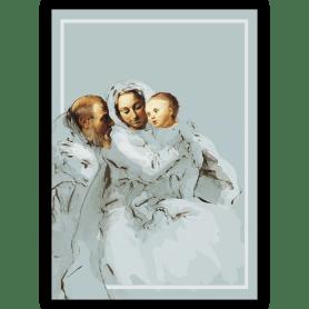 Grußkarte: Die heilige Familie
