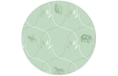 Klein gemusterte Tapete mit afrikanischen Tieren