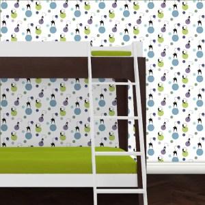 Kinderzimmer Tapete Katzen Polka
