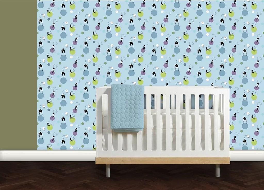 Babyzimmer tapete katzen polka gr flich m nster 39 sche - Babyzimmer tapete ...