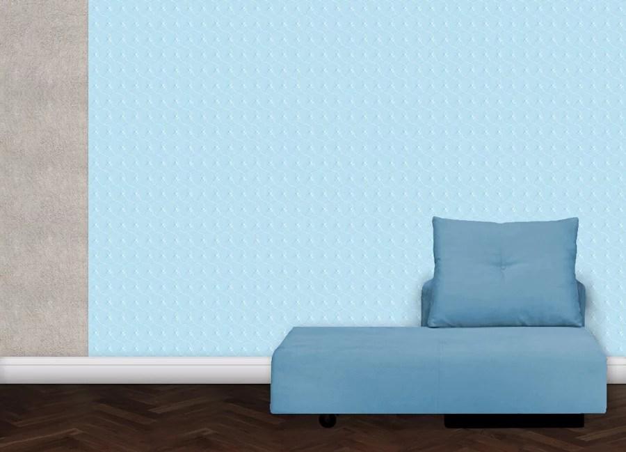 Floral gemusterte tapete in blau gr flich m nster 39 sche for Gemusterte tapeten