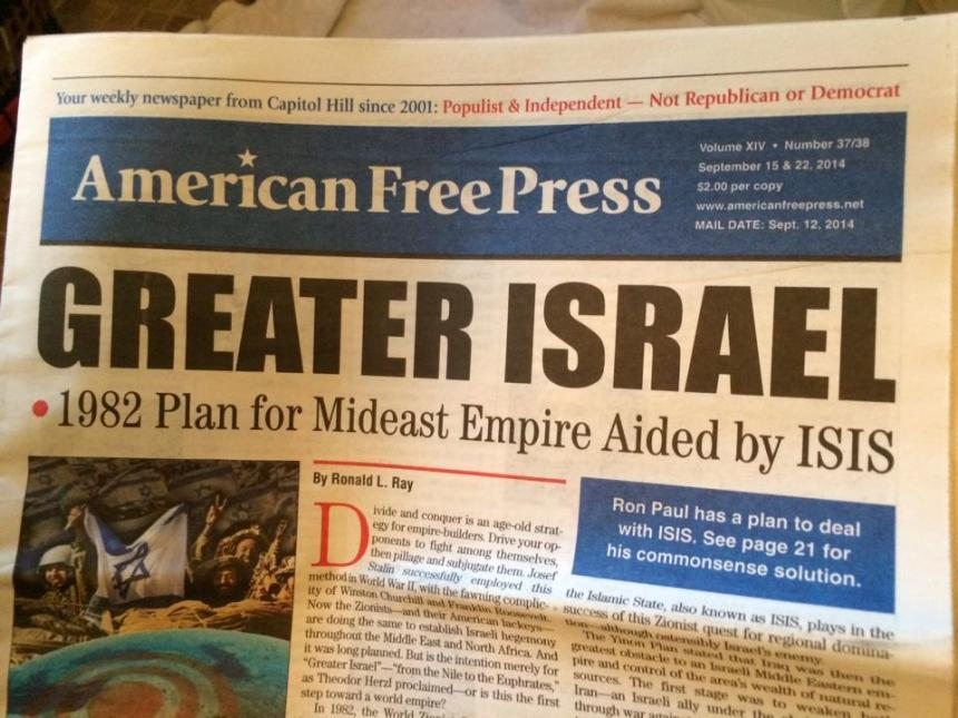 Greater Israel courtesy of Isis!