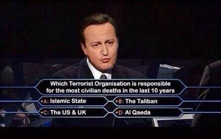 Cameron the terrorist!