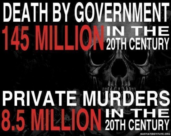Governments are the greatest killers of their own people