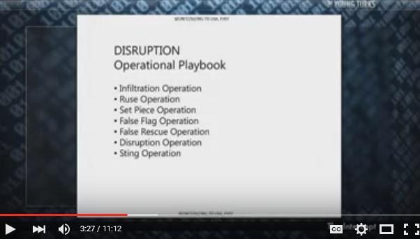 Playbook for destruction
