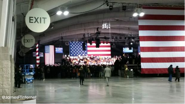 Hilary rally in NY