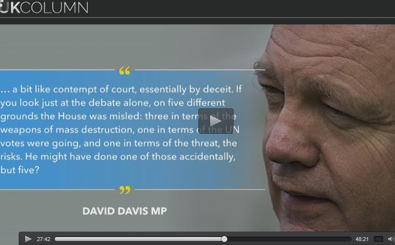 David Davis on Blair