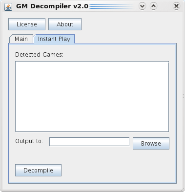 InstantPlay tab of the decompiler.