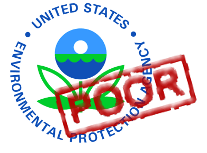 EPA Logo with Poor Mark