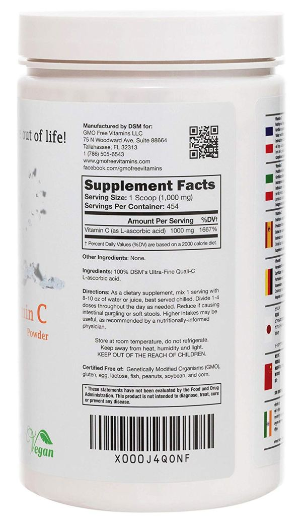 Vitamin C Made in UK Supplement Facts