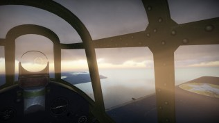 The sunser from the cockpit