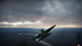 A sharp turn over Berlin