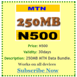 MTN Data Plans For Android: How To Subscribe And The List Of Available Plans