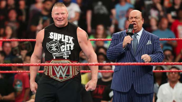 Lesnar is still working with WWE