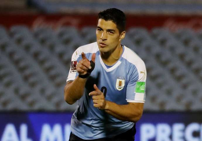 Suarez with Uruguay
