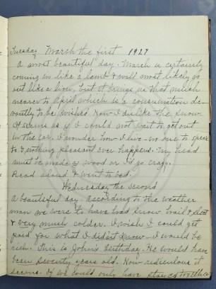 1927.03.01-02 - Annie F Morris diary