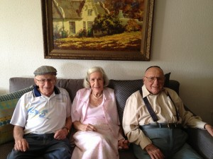 My 88 year old grandfather with his 92 year old brother and his sister in law