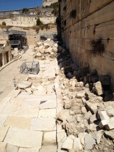 Ruins of the Southern Wall in Jerusalem