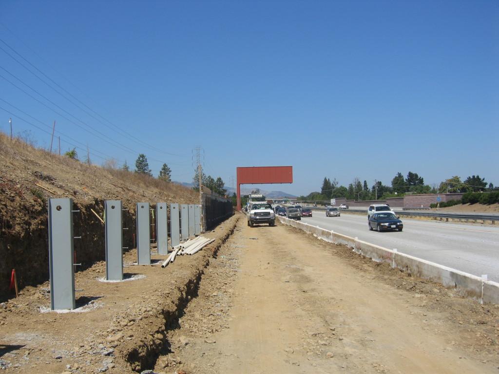 Job 126 - Hwy 85 Saratoga Retaining Walls